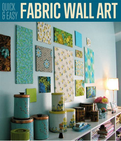 fabric wall art diy projects craft ideas  tos