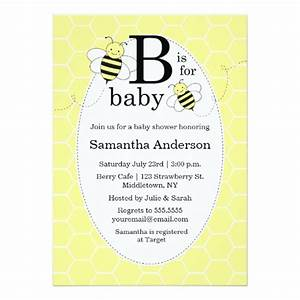 Cute Bee Baby Shower Invitation - Gender Neutral | Zazzle