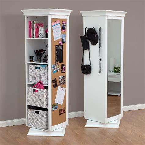 Rotating Bookcase Ikea by Display It Rotating Swivel Storage Mirror And Bookcase