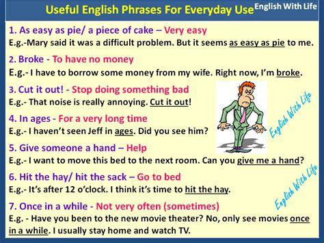 Useful English Phrases For Everyday Use  English Language