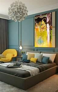 1001 Ides Pour Une Chambre Bleu Canard Ptrole Et Paon