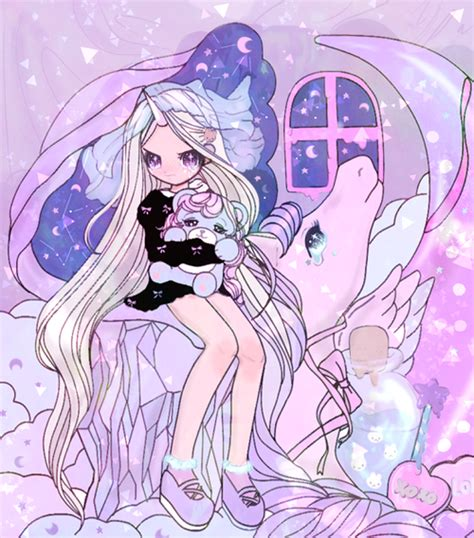 anime unicorn art anime art crying girl pastel unicorn cute