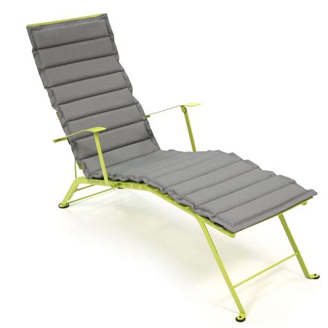 fermob chaise bistro sun lounger cushion fermob ambientedirect com