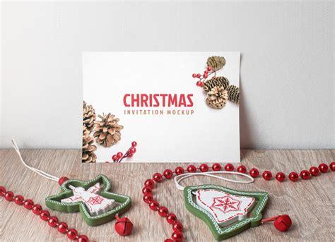 Free Christmas Invitation Card Mockup PSD Free Mockups