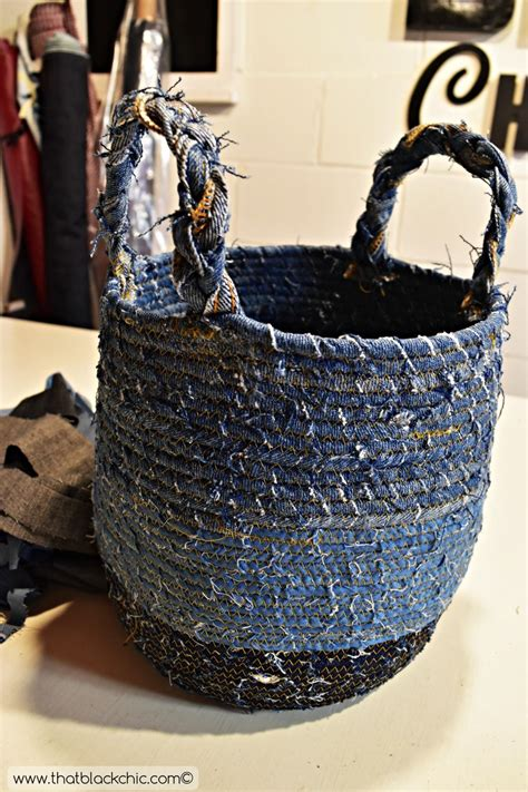 make a fabric basket any size you need with this diy rope