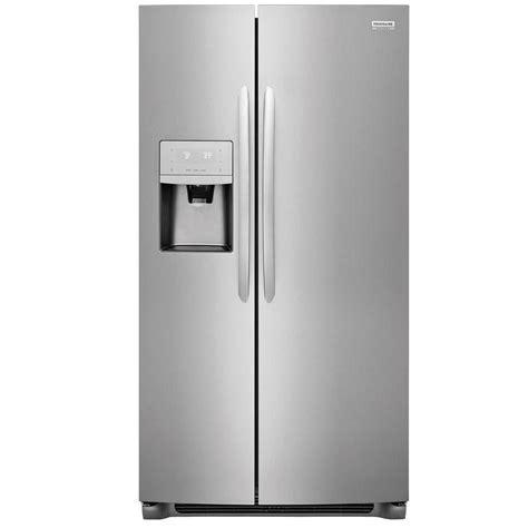 frigidaire lghktf gallery  cu ft counter depth side  side refrigerator  ice maker