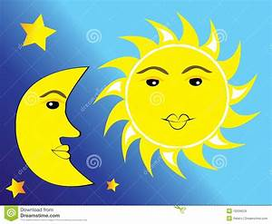 Sun  Moon And Stars Royalty Free Stock Images