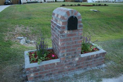 Cool Image Of Simple Brick Mailbox Designs Plans