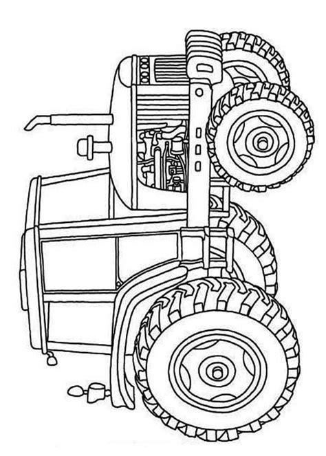 disegni  trattori da stampare  colorare