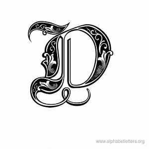download printable decorative letter alphabets alphabet With decorative letter d