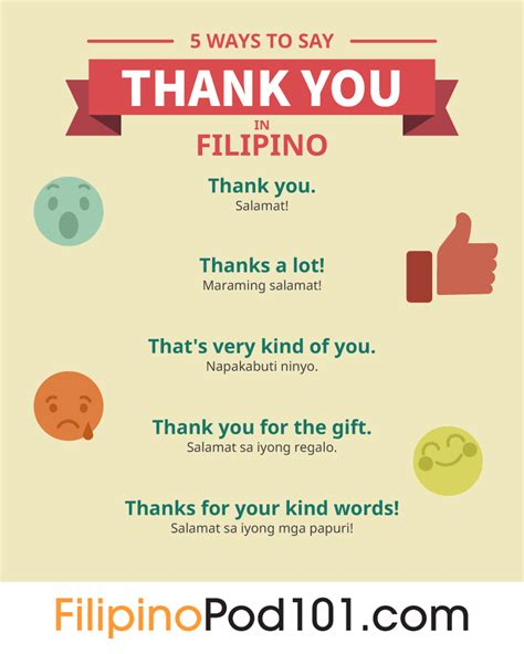 How To Say Thank You In Filipino Filipinopod101