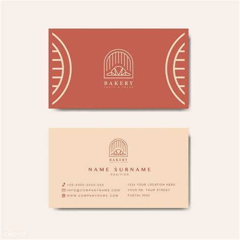 coffee shop business card template vector  image