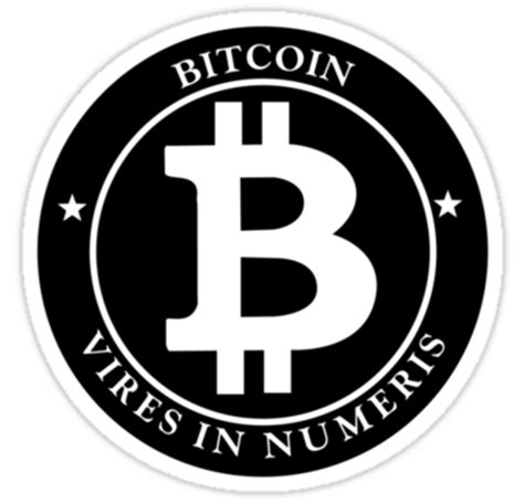 Download free bitcoin logo png png with transparent background. Bitcoin Vires In Numeris Logo | Die Cut Vinyl Sticker Decal | Blasted - Blasted Rat