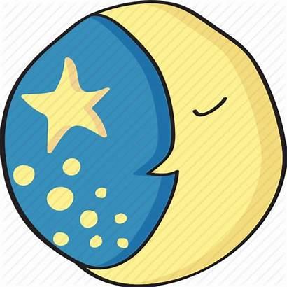 Moon Sleep Clipart Sleeping Cartoon Transparent Night