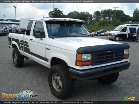 1991 ford ranger xlt extended cab 4x4 oxford white grey photo 1 dealerrevs