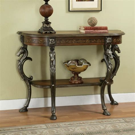 powell   masterpiece floral hand painted demilune console table ebay