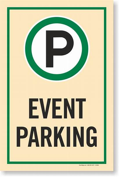 Parking Event Sign Signs Lots Lot Myparkingsign