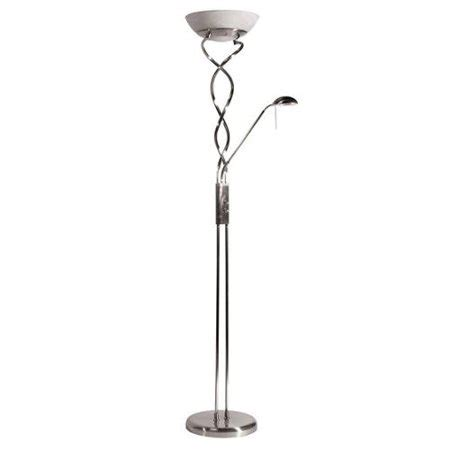 Walmart Reading Light by Twist Torchiere 3 Light Satin Chrome Floor L With