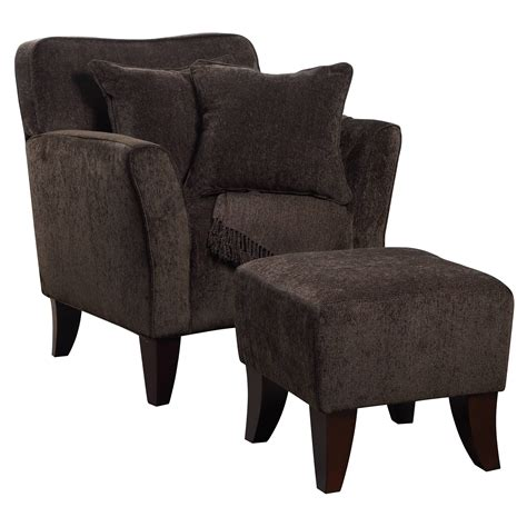 accent chair with ottoman sunset trading cozy accent chair with ottoman and pillows