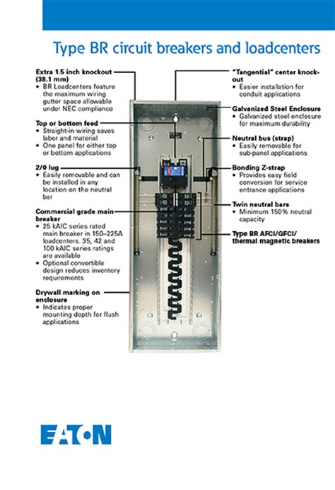 Eaton Amp Space Circuit Type Main Breaker