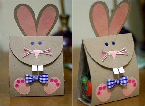 hasen basteln originelle geschenkstuete aus papier