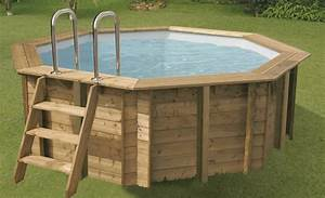 Piscine Bois Ronde : piscine bois sunwater ronde en kit 360x120 lekingstore ~ Farleysfitness.com Idées de Décoration