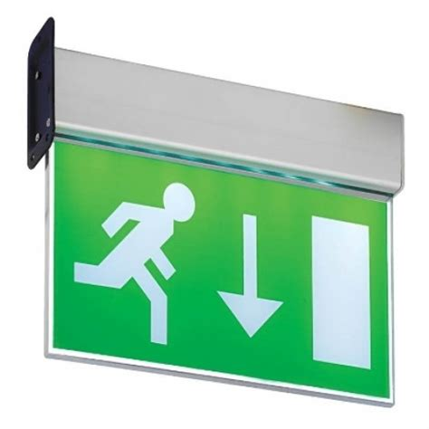 saxby muro led wall mounted exit sign