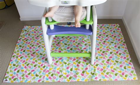 High Chair Splat Mat by High Chair Mess Mat Splat Mat Bird Large 2 Rabbits