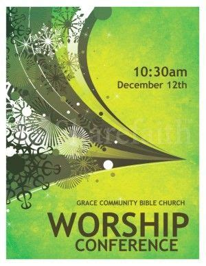 worship conference flyer  images flyer template