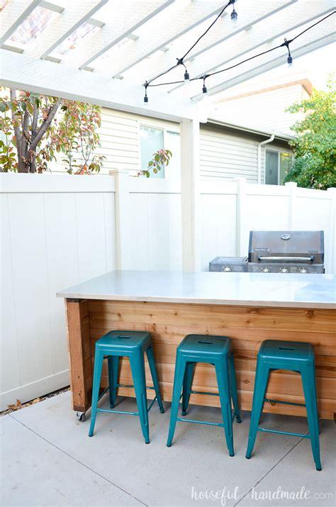 outdoor kitchen island plans outdoor kitchen island build plans a houseful of handmade