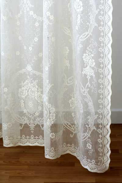 cotton lace curtains  scotland ready   custom