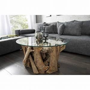 Table Basse En Bois Flotté : table basse en bois flotte ronde ~ Preciouscoupons.com Idées de Décoration