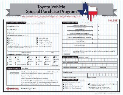 Toyota Employee Benefits by Toyota Employee Purchase Program Toyota Of Plano