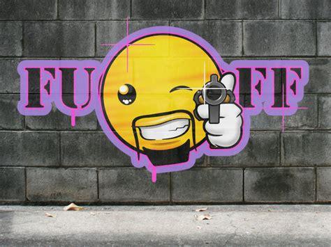 Grafiti Emoticon Kertas :  Gangsta By Mondspeer On Deviantart