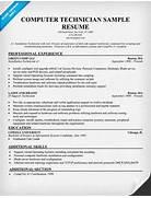 Computer Technician Computer Technician Sample Resume Best Pc Technician Resume Modal Title Computer Science Resume Template