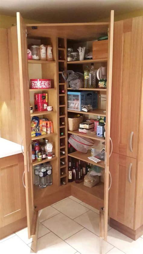 Larder Pantry Cupboard Corner Larder Pantry Cupboard Home Inspiration In 2019