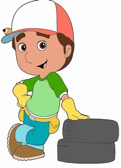 Manny Handy Clipart Cartoon Clip Characters Disneyclips