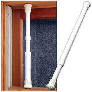 (Set/12) Window Security Bar Locks Onto Frame- Sturdy Steel Adjusts 17-29 in