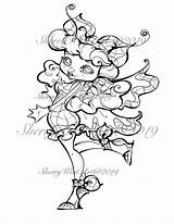 Flapper 1940s Coloring Butterfly Stars Bugs Fantasy sketch template