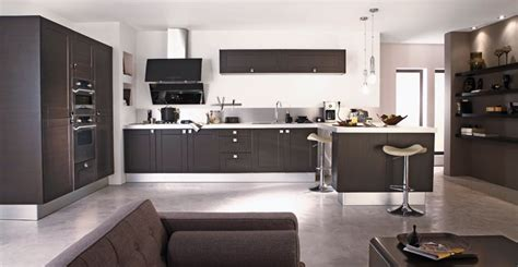 decoration des cuisines modernes d 233 co salon cuisine moderne exemples d am 233 nagements
