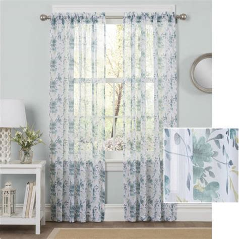 Walmart Sidelight Curtain Rods by Mainstays Canvas Curtain Panel Set Of 2 Walmart
