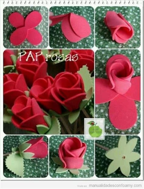 Una rosa de goma eva para Sant Jordi Aprende a hacer una