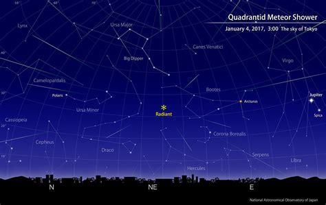quadrantid meteor shower january  naoj national