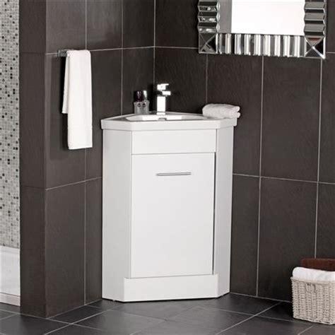 Corner Bathroom Sink Vanity Units by The Naeva Corner Vanity Unit White Gloss With Basin 47 X