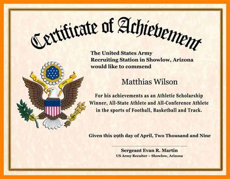 certificate  achievement wording printable receipt