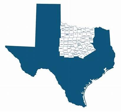 North Texas Counties Regional Coordinator Map County