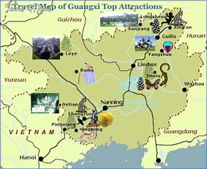 China Map Tourist Destinations