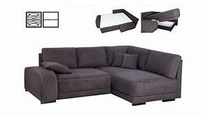 Boxspring Couch Mit Bettfunktion : ecksofa gordon anthrazit naht wei mit boxspring 255x202 ~ Indierocktalk.com Haus und Dekorationen