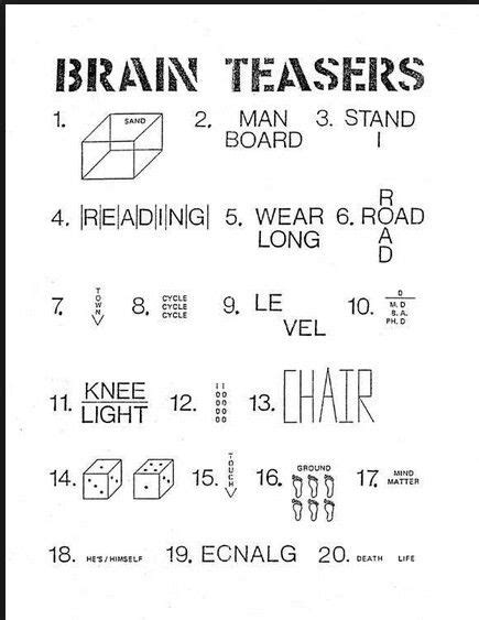 25 best ideas about rebus puzzles on brain