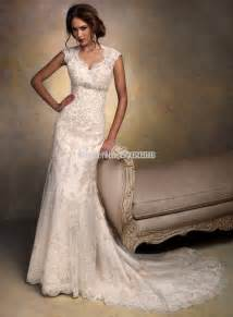 wedding dress on sale cap sleeves open back lace wedding dress mermaid 2015 vintage bridal gowns for sale in wedding